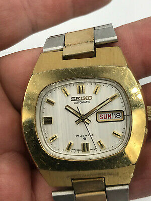 $ CDN220.90 • Buy Seiko Watch Automatic 17 Jewels Day/Date 2 Tome Working Vintage
