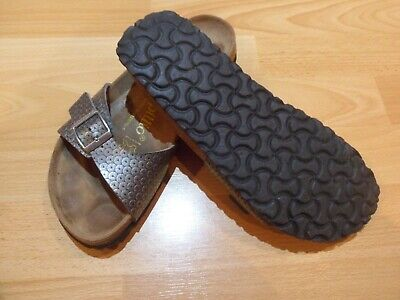 Birkenstock/papillio Silver Patterned Sandals Size Uk 5 Or Eu 38 • 14.99£