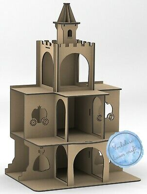 Y392 Princess Castle Cupcake Cake Candy Cart Stand Mdf Donut Wall Post Box Xxl • 28.99£