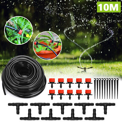 10M Micro Drip Irrigation Pipe Automatic Garden Watering Connector Plant System • 7.46£