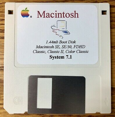 $11.99 • Buy Macintosh System Boot Disk Color Classic Mac OS Version 7.1
