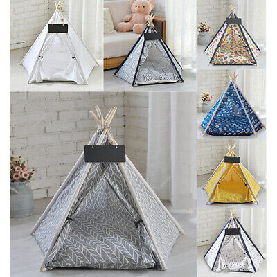 £19.95 • Buy Folding Pet Tent Cat/Kitten/Dog/Puppy House Bed Teepee Bed Igloo Colors Optional