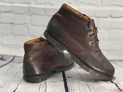 Rockport XCS Mens Brown Leather Mid Boots Size UK 9 Walking Casual Fashion • 40£