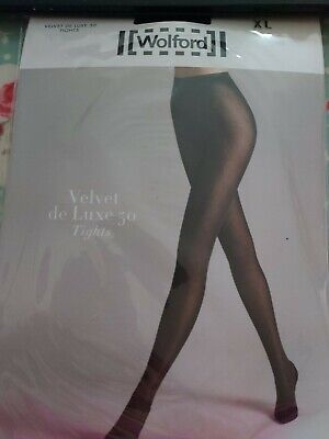 Wolford Belvet De Luxe 50 Tights, XL, Black • 6.50£
