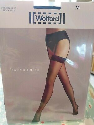 Wolford Individual 10 Stockings, Medium, Black • 4.20£