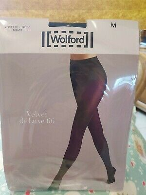 Wolford Velvet De Luxe 66 Tights, Medium, Black, Opaque • 10.20£