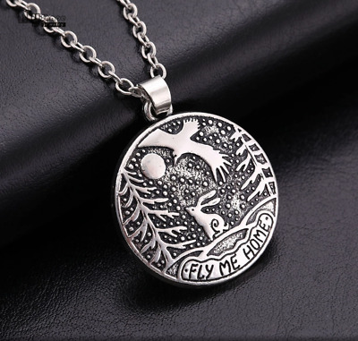 £4.95 • Buy Rabbit/Hare Eagle 'Fly Me Home' 'Moon Gazing Hare Antique Silver Plated Necklace