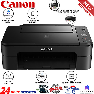 AU84.95 • Buy Canon Printer Wireless Pixma Home All-in-One WiFi Scanner Copy Print WITH INK