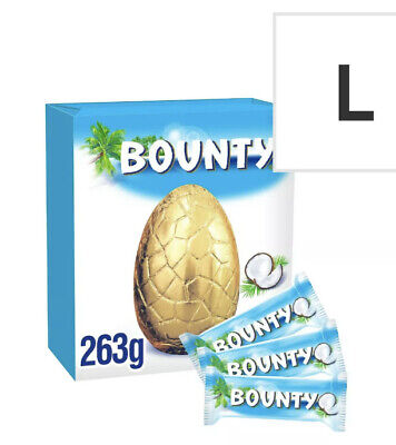 Bounty Milk Chocolate Easter Egg With 3 Fun Size Bars 263G Easter Egg Gift • 8.99£