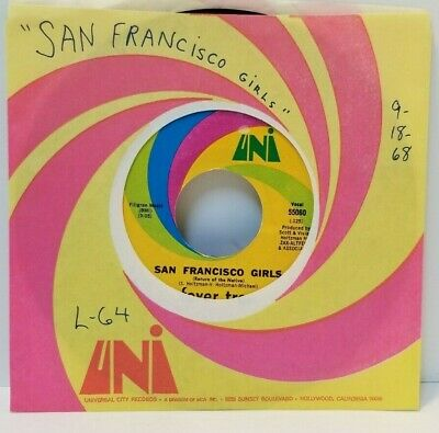 FEVER TREE San Francisco Girls / Come With Me 45 RPM - Play Tested EX  *D2 • 8.68£