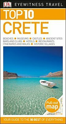DK Eyewitness Top 10 Crete (Pocket Travel Guide) Book The Cheap Fast Free Post • 6.99£