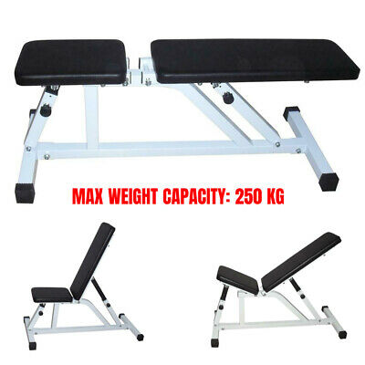 Adjustable Incline Flat Gym Dumbbell Bench Weight Lifting Exercise Stool Fitness • 58.95£