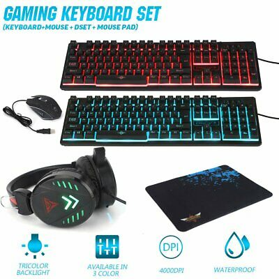 AU45.89 • Buy K59 Gaming Keyboard Mechanical Keyboard And Wired Mouse Headset Three-piece Set