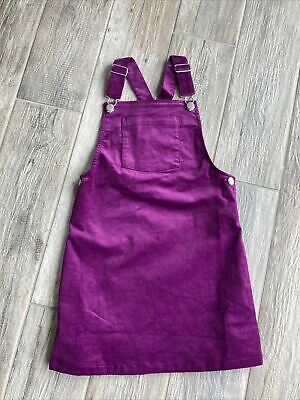 Girls Pinafore Dungaree Dress Next Age 8 Fits Age 7-8 Years New • 1.90£