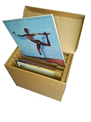 1 X 12  Vinyl Record Storage Cardboard Archive Box - Holds Up To 50 LPs • 10£