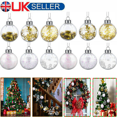 36Pcs Christmas Tree Baubles Hanging Party Ornament Wedding Home Decoration • 8.99£