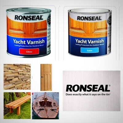 Ronseal Yacht Varnish Satin, Gloss 500ml Lasting Protection For Outdoor Wood • 16.49£