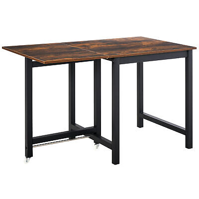 £79.99 • Buy HOMCOM Drop Leaf Kitchen Foldable Table Folding Table Foldable For Dining Room