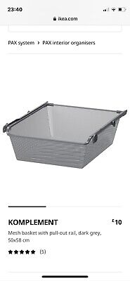 Ikea  Komplement Basket Drawers With Runners For Pax Wardrobe 50x58cm • 30£