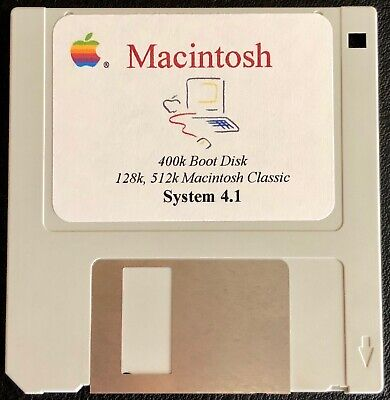 $11.99 • Buy 400K Boot Disk Version 4.1 / Works On Any Classic Macintosh 128k & 512k Computer