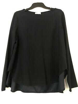 AU59 • Buy Scanlan Theodore Stretch Silk Trapeze Top - Navy. Size 10. New Without Tag!