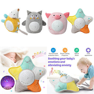Baby Smoothing Night Light Plush Toys With Music Stars Projector Light Toys • 12.90£