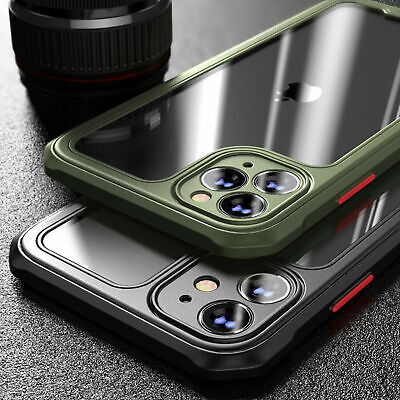 Shockproof Case For IPhone 12 11 Pro Max XR 7/8 PLUS SE Bumper Clear Case Cover • 4.88£