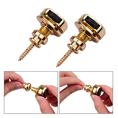 $ CDN19.13 • Buy 2pcs Guitar Strap Locks Metal Security Quick Release Strap Buttons Retainer I0S0