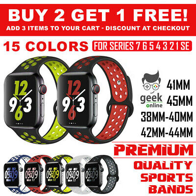 AU7.99 • Buy For Apple Watch Band Series 6 5 4 3 2 1 SE Sport Silicon Strap 38 40mm 42mm 44mm