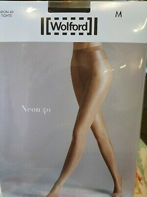 Wolford NEON 40 Tights, Medium, Black • 6.30£