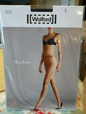 Wolford Wisdom Tights, Large, Black In Black • 6.50£