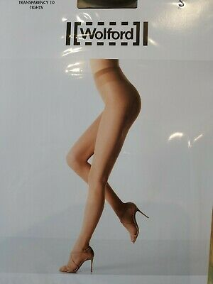 Wolford Tranparency 10 Tights, Large, Black • 4.10£