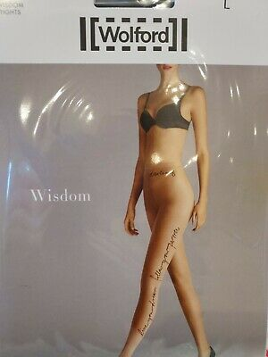 Wolford Wisdom Tights, Large, Black In Black, 9180 • 6.40£