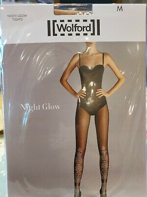 Wolford Night Glow Tights, Medium, Gobi/glow • 7.10£