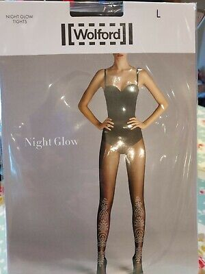 Wolford Night Glow Tights, Large, Black/glow • 3.20£