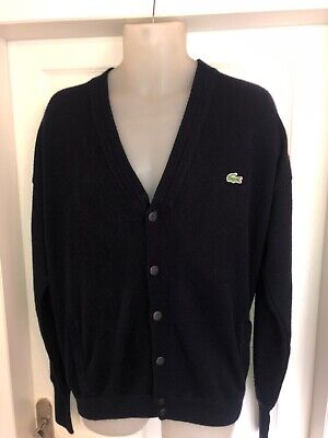 Lacoste Chemise Navy Buttoned Cardigan Size Large,G • 25£