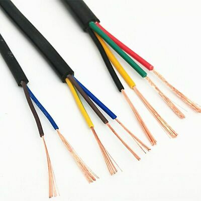 AU15.37 • Buy AWG 2/3/4 Cores Copper Wire Conductor Electric Cable Black Soft Wire 10 Meter 26