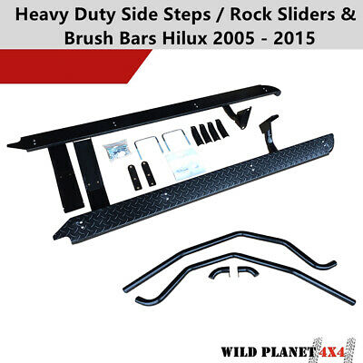 AU530 • Buy Side Steps For Fit Toyota Hilux 05-15 Heavy Duty Steel N70 Rock Slider Brush Bar