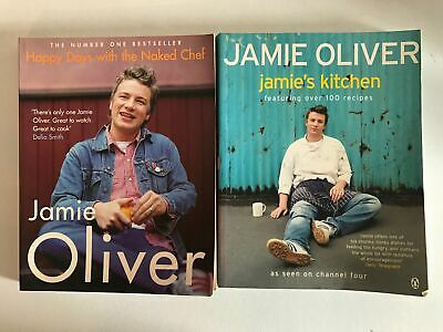 AU25 • Buy Jamie Oliver Cookbooks X 2 Happy Days With The Naked Chef Jamie's Kitchen P/B