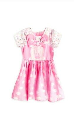 AUTHENTIC Disney Minnie Mouse Pink Polka Dot Dress Costume For Girls • 20.98£