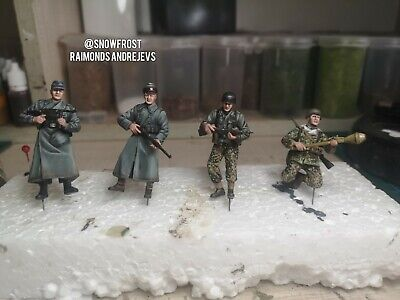 1/35 WW2 German Army Vintage Kit. Dragon Models 6020. 4 Figures Pro Built And... • 60£