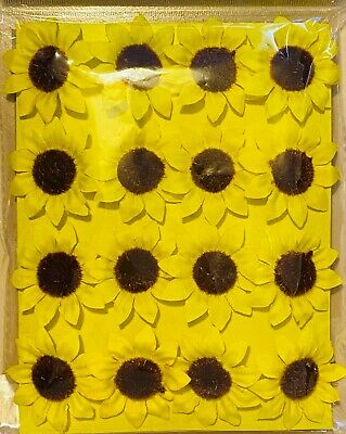 £2.90 • Buy 16 Sunflowers Heads Craft Easter Bonnet Egg Party Hunt Decorations