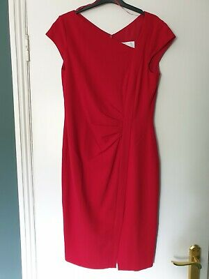 AU116.11 • Buy Bnwt Stunning Lk Bennett Deep Red 'tassa' Dress Size 14