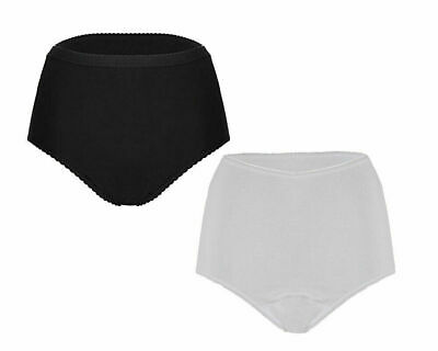 £10.49 • Buy NEW Ladies INCONTINENCE BRIEFS WASHABLE WITH PAD Briefs Pants Knickers