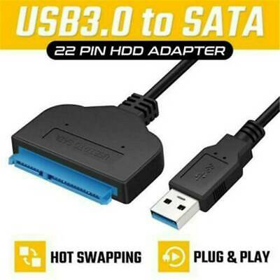 AU6.55 • Buy USB 3.0 To SATA External Converter Adapter Cable Lead For 2.5  HDD SSD SATA III.