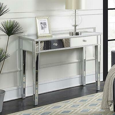 £128.95 • Buy UK Mirrored Glass 2 Drawers Dressing Table Console Make-up Desk Bedroom