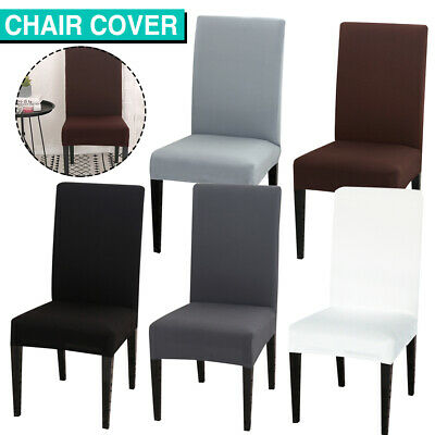 AU5.99 • Buy Dining Chair Covers Slipcover Stretch Spandex Wedding Cover 1/4/6/8Pcs Removable