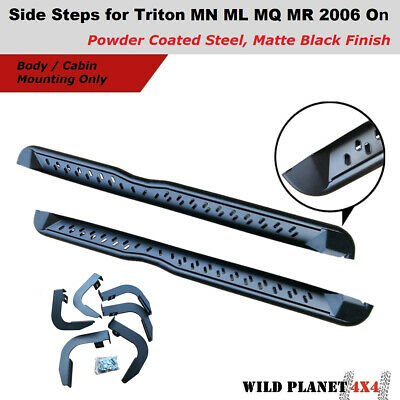 AU259.95 • Buy Side Steps For Triton MN ML MQ MR Heavy Steel Powder Coated Side Bars Matte Blac