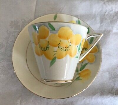 £6.50 • Buy Rare Vintage Phoenix Ware Art Deco Design Cup And Saucer Hand-painted