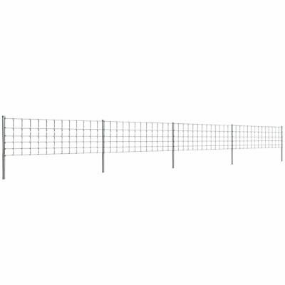 VidaXL Step-In Fence 50 M With Post Galvanised Wire Fence 80/6/30 Garden Mesh • 112.99£